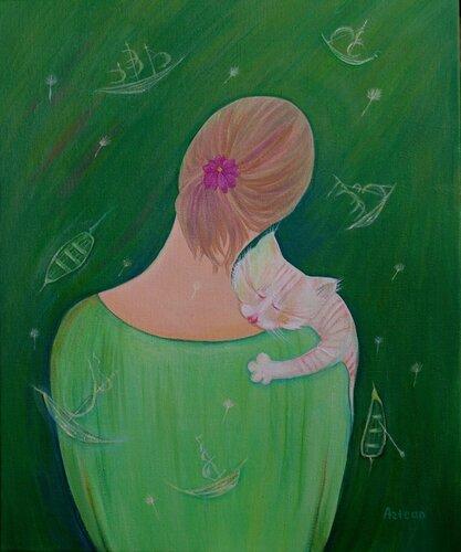 """Картина """"дружочек"""" или """"Сны о корабликах""""."""