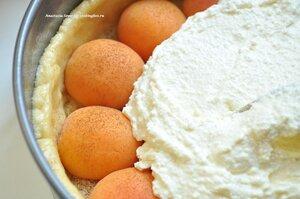 Творожный пирог с абрикосами (до выпечки)