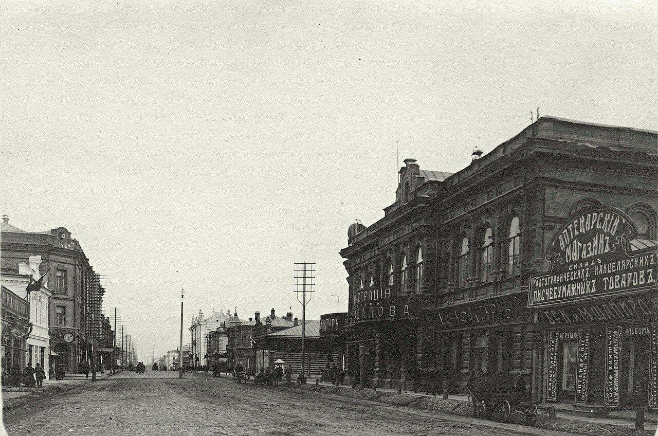 Перспектива улицы Воскресенской от дома Н.Г.Гадалова в направлении на восток