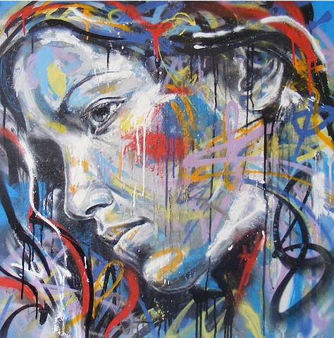 Художник Дэвид Уолкер, граффити-портретист