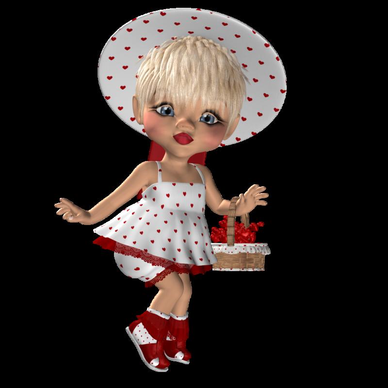 Картинка анимашка кукла