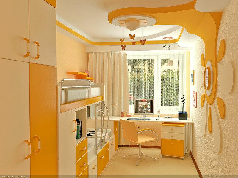 дом и ремонт - интерьер детской комнаты.