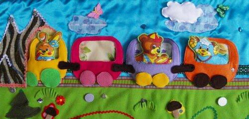 Развивающий коврик для детей Моулвиль... поезд