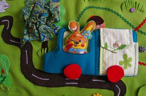 Детский развивающий коврик Моулвиль... грузовой автомобиль