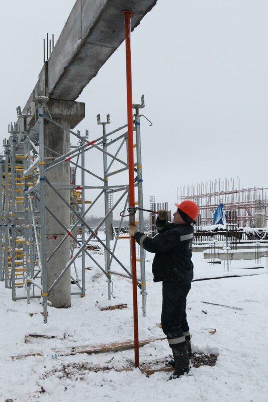 Строительство стадиона «Спартак» январь 2012 (Фото)