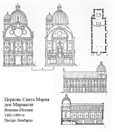 Церковь Санта Мария деи Мираколи, чертежи