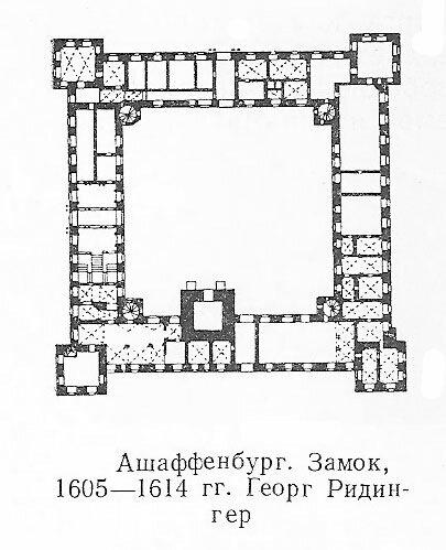 Замок Йоганнесбург в Ашаффенбурге, план