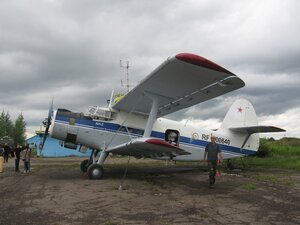 Самолёт Ан-2 на аэродроме «Борки» ДОСААФ Новгородской области