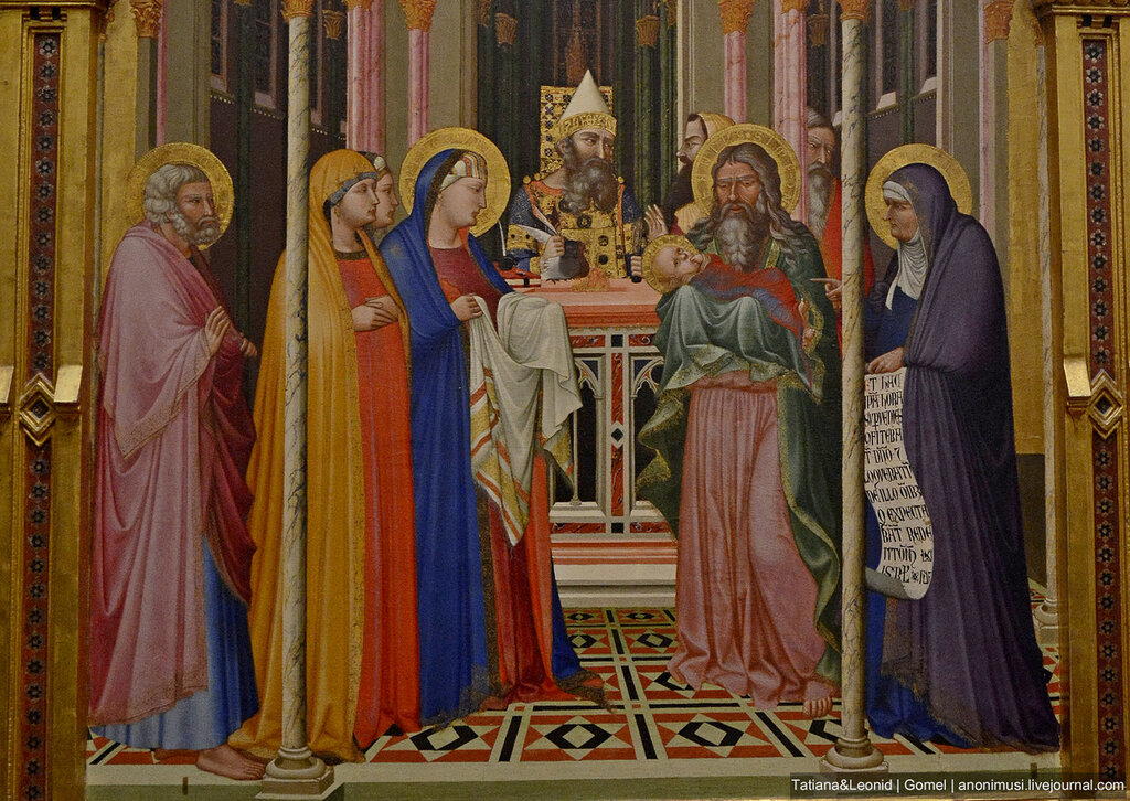 Амброджо Лоренцетти. Принесение во храм. 1342 г. Флоренция, Галерея Уффици.