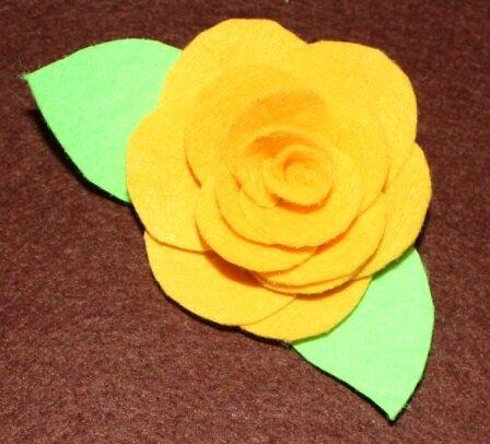Роза из фетра. Мастер-класс 0_6443f_16cd4754_L