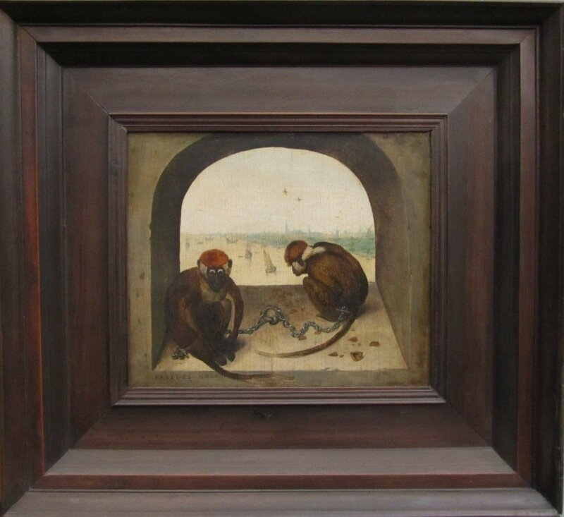 Брейгель. Две обезьяны. 1562