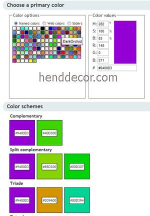 Инструмент для подбора сочетающихся цветов