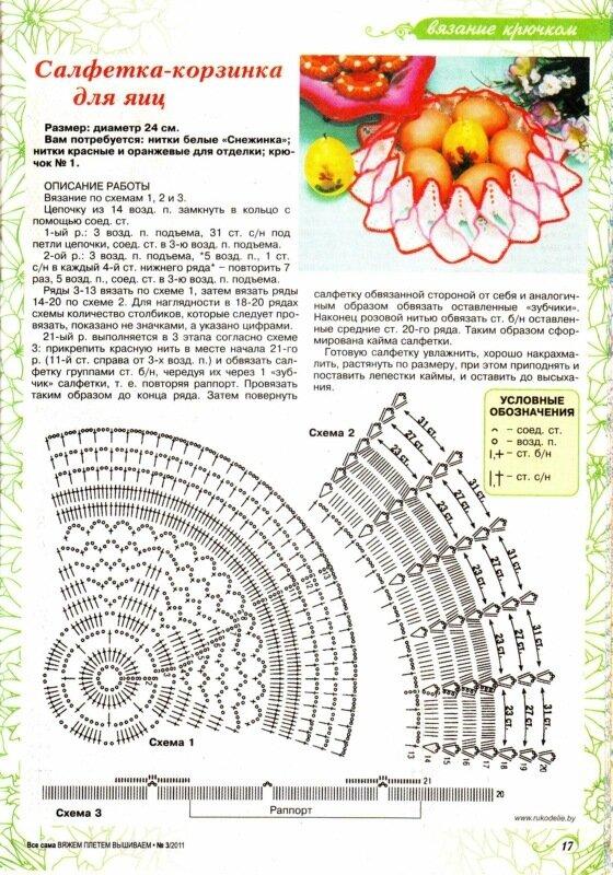 Крючком схемы поделки 9