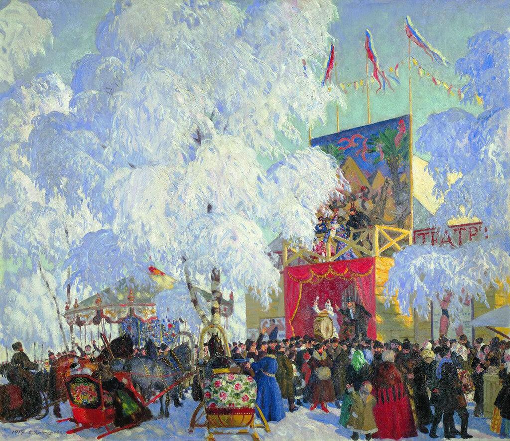 Борис Кустодиев Масленичное катание, 1919.