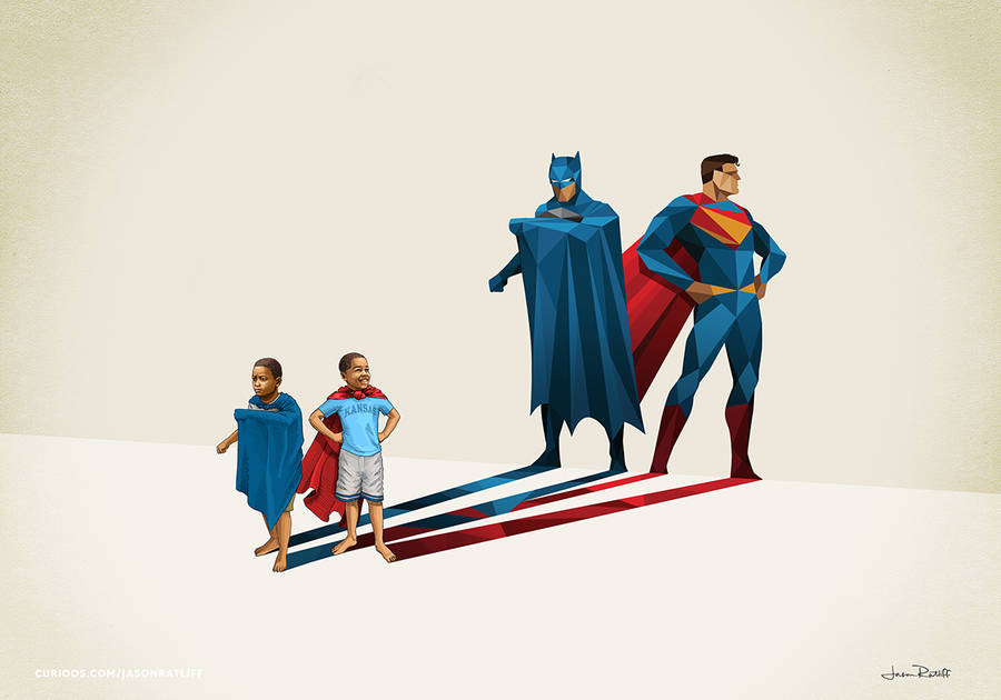New Children's Superheroes Shadows Posters (22 pics)