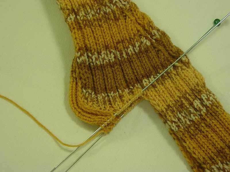 Носки на двух спицах без единого шва по спирали мастер класс
