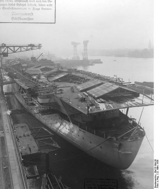 """Flugzeugtrдger """"Graf Zeppelin"""", Bau"""