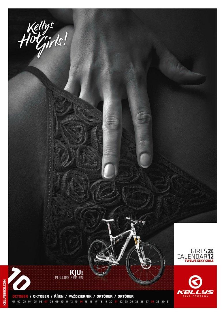 Обнаженные девушки в календаре производителя велосипедов Kellys на 2012 год - октябрь