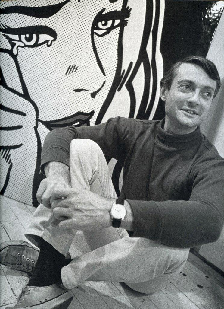 Dennis Hopper - Photographs from 1961 - 1967.Roy Lichtenstein in his studio, 1964