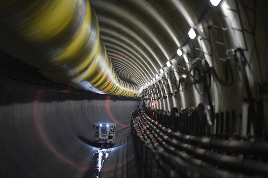 20. Строительство линии метро в городе Ренн, Франция, 23 октября 2015 года.