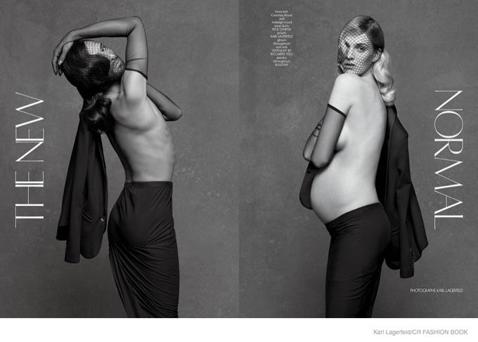 Фотосессия скандальной Кончиты Вюрст и беременной Эшли Гуд