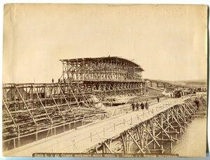Сборка железного моста через реку Тобол у г. Кургана