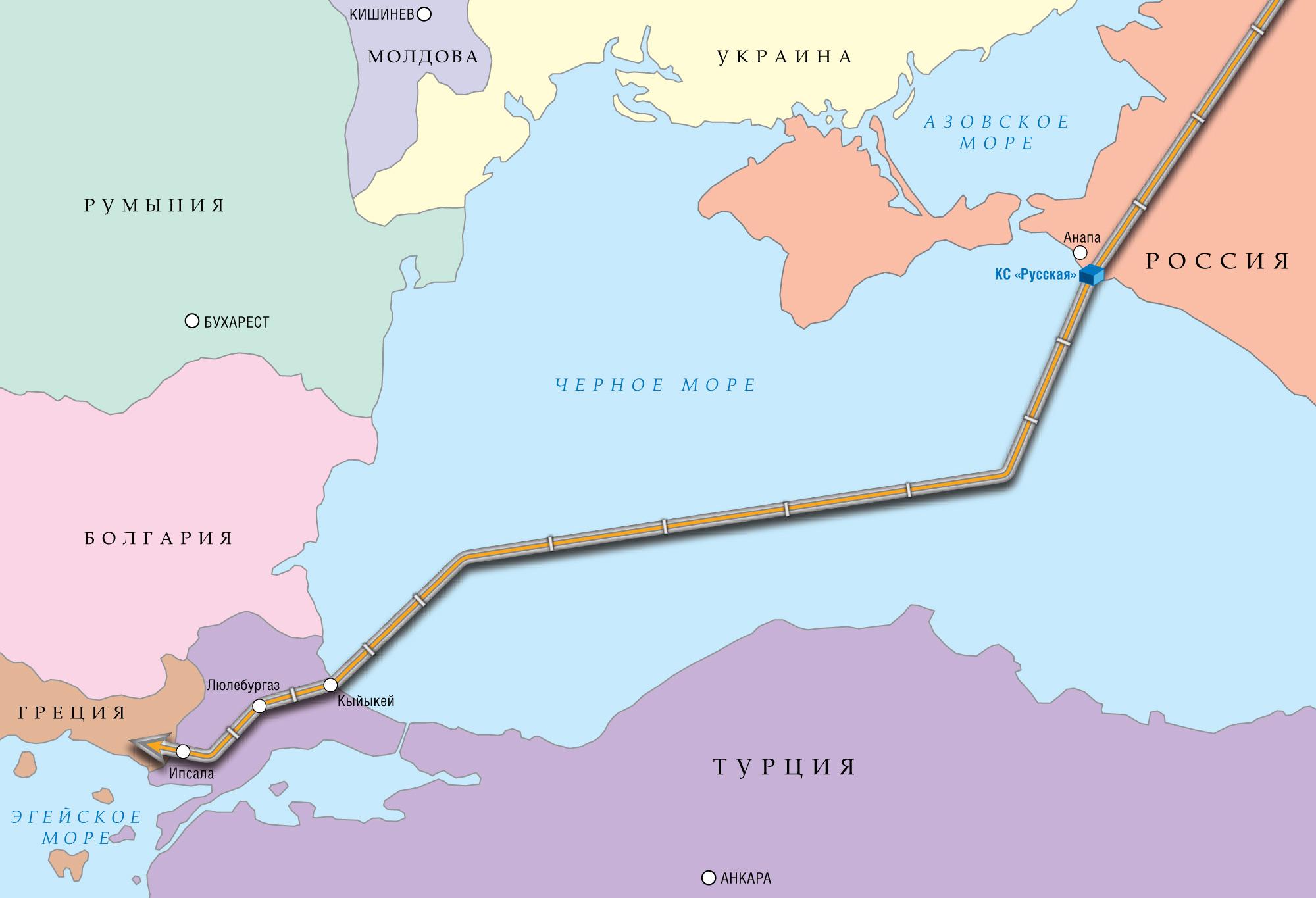 Россия ждет оставшихся разрешений по«Турецкому потоку» наднях