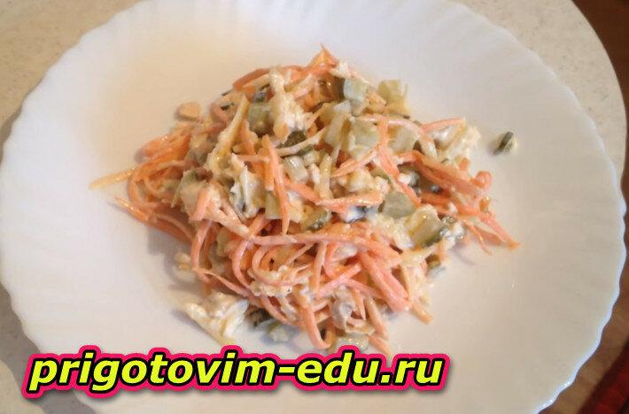 Готовим вкусный салат Лисичка