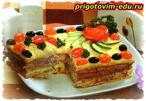 Закусочный торт «Пять звезд»