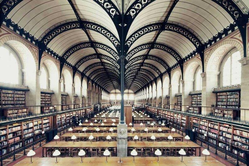 Библиотека св. Женевьевы, Париж, Франция.