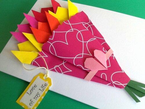 Складывание приглашений поздравительных открыток оригами 19