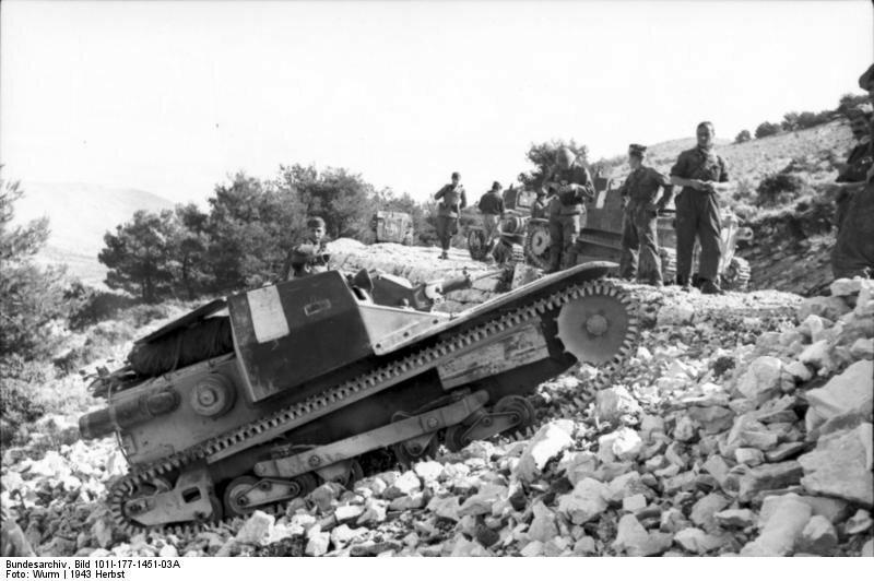 Griechenland, italienischer Panzer