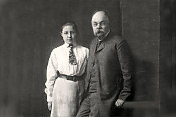 Марина Цветаева и И.В.Цветаев. 1906 г.jpg