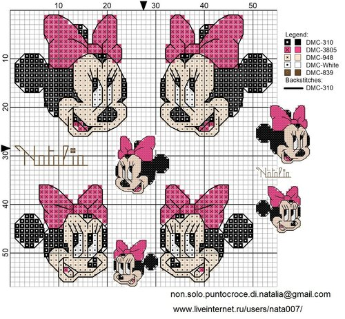 Connu Minnie Punto Croce Schemi. Amazing Minnie Halloween Schema Punto  AS39