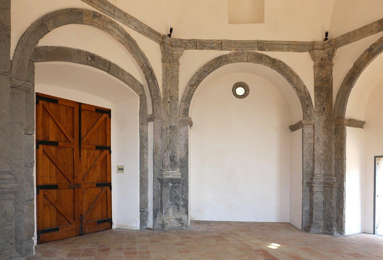 Ischia, the Aragonese castle. St. Peter's Church in Pantanello (Chiesa di San Pietro in Pantaniello)