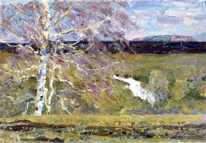 Е.В. Рябинский. Весенний ветер. 1997