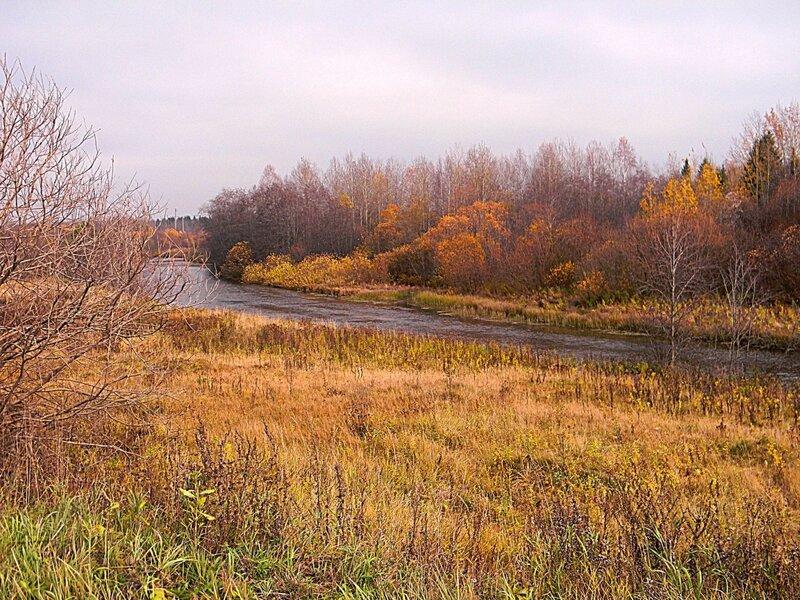 Река Усолка в октябре