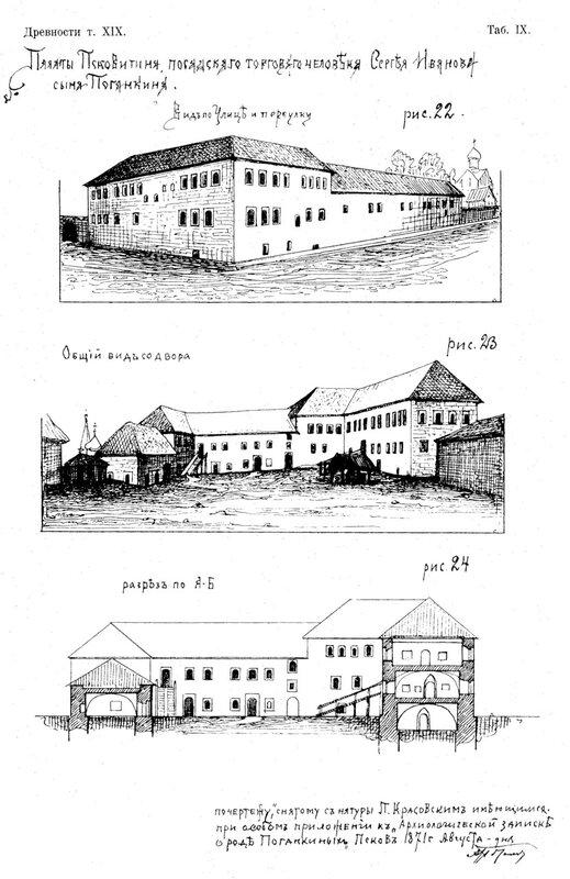 Рисунок 22-24. Поганкины полаты во Пскове. Потапов Алексей Александрович