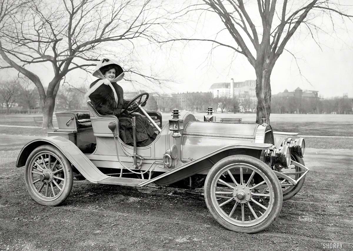 Автомобили и девушки начала 20-го века на снимках американских фотографов (2)