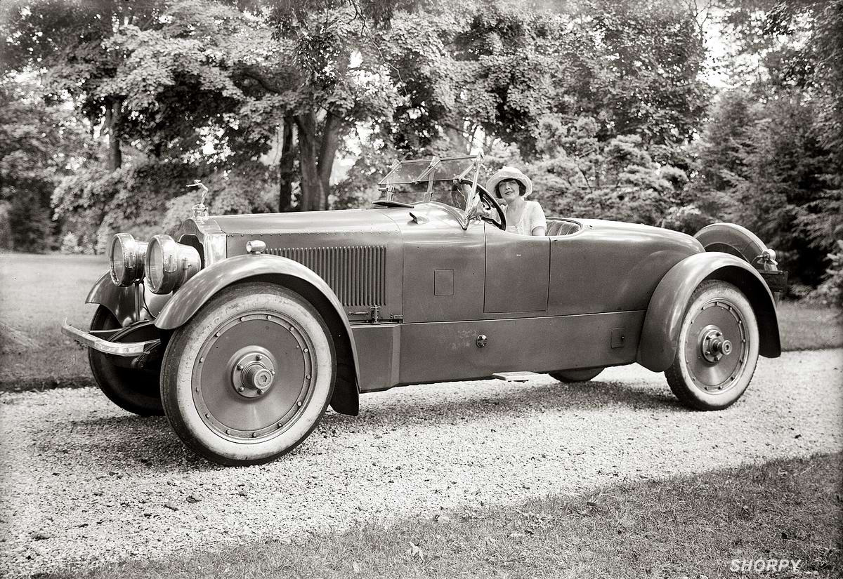 Автомобили и девушки начала 20-го века на снимках американских фотографов (15)