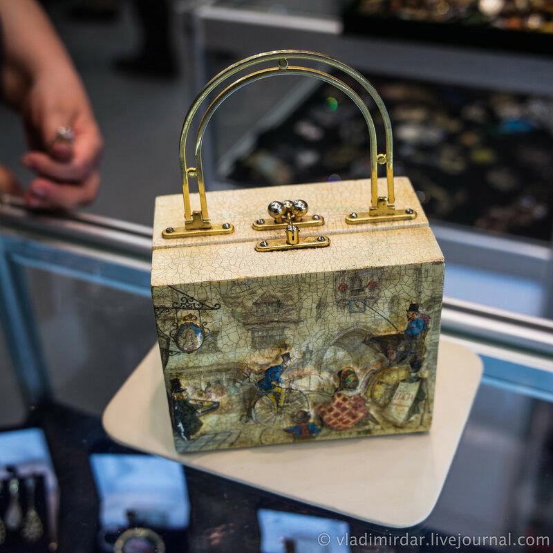 Винтажная сумочка. Картон. Прошлый век.