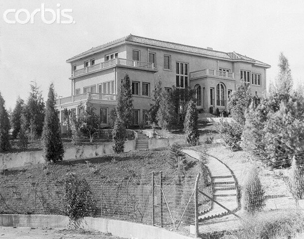 Exterior View of Charles Chaplin's Mansion