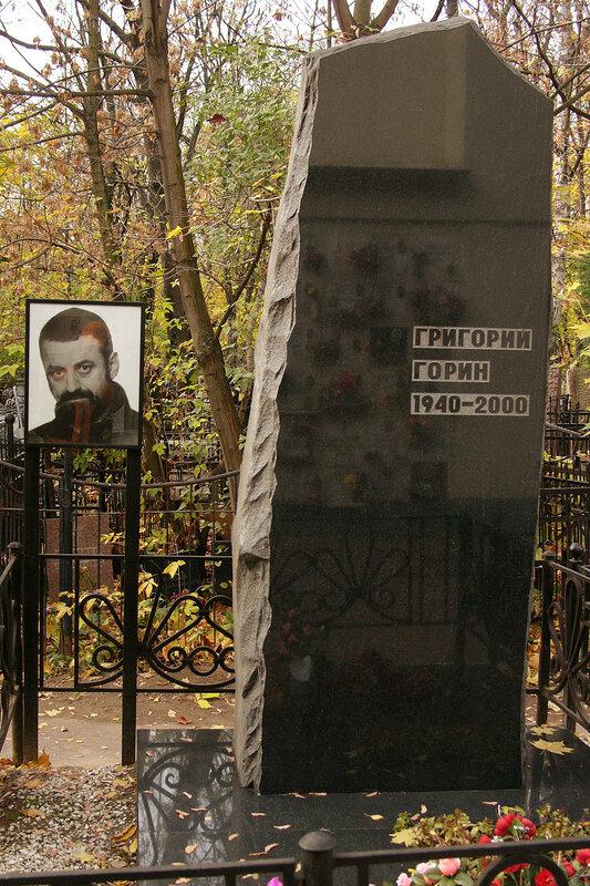 Григо́рий Изра́илевич Го́рин  Ваганьково и Новодевичье кладбища. Некрополи в фотографиях. Могилы знаменитостей