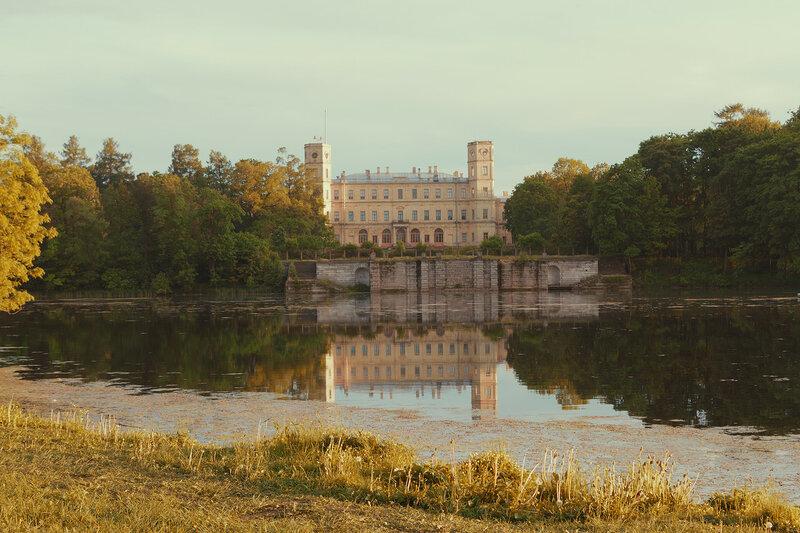 Гатчинский дворец и терраса-пристань