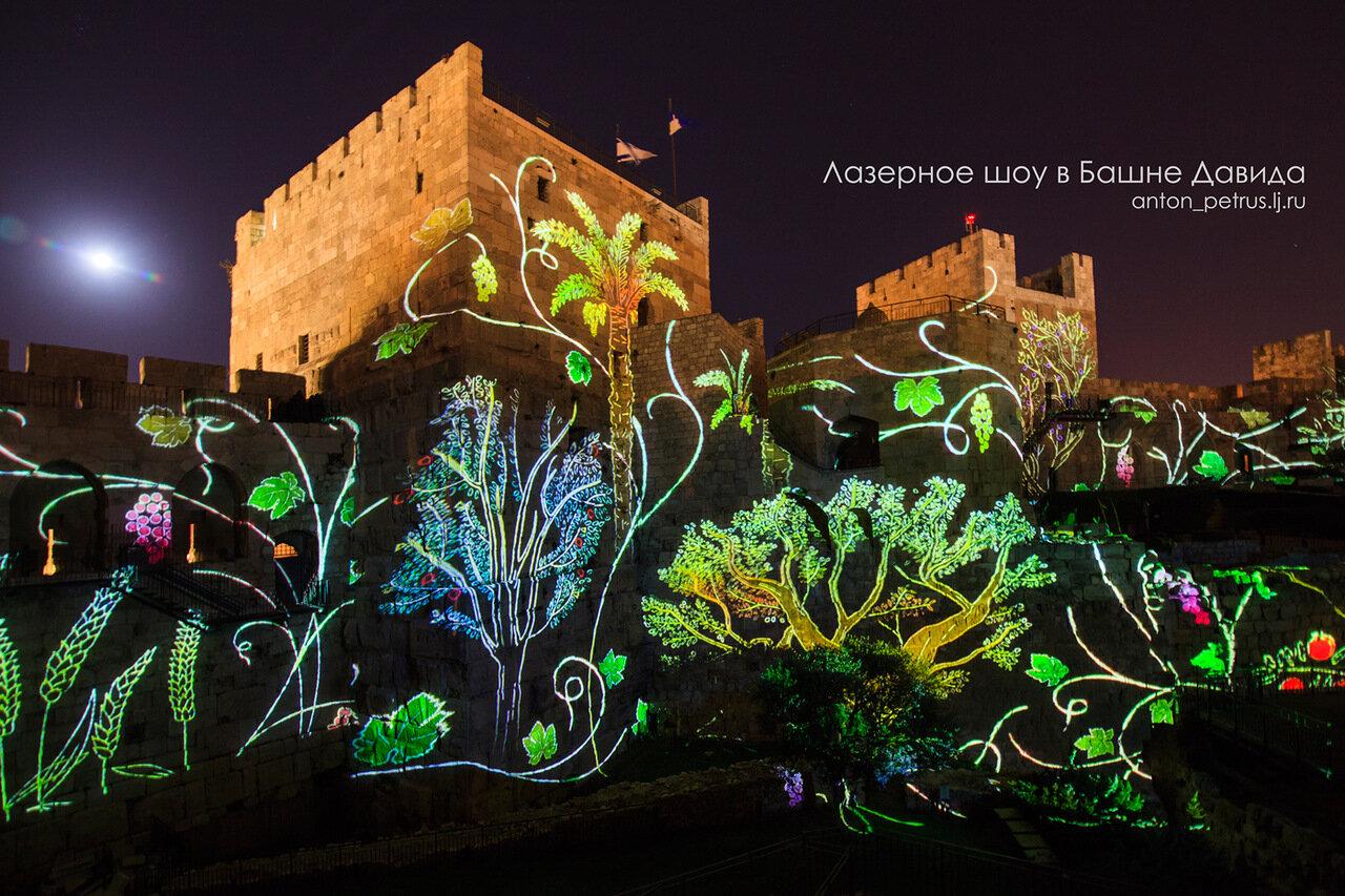 Лазерное шоу в Башне Давида. Иерусалим