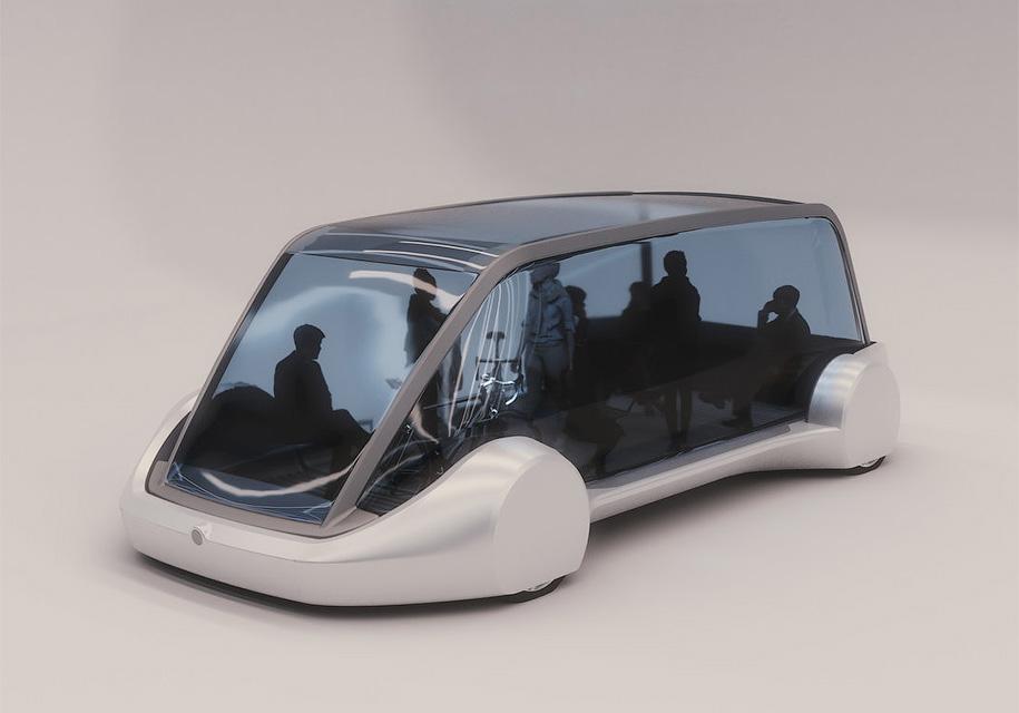 Руководитель компании «Tesla» презентовал подземный электрический микроавтобус