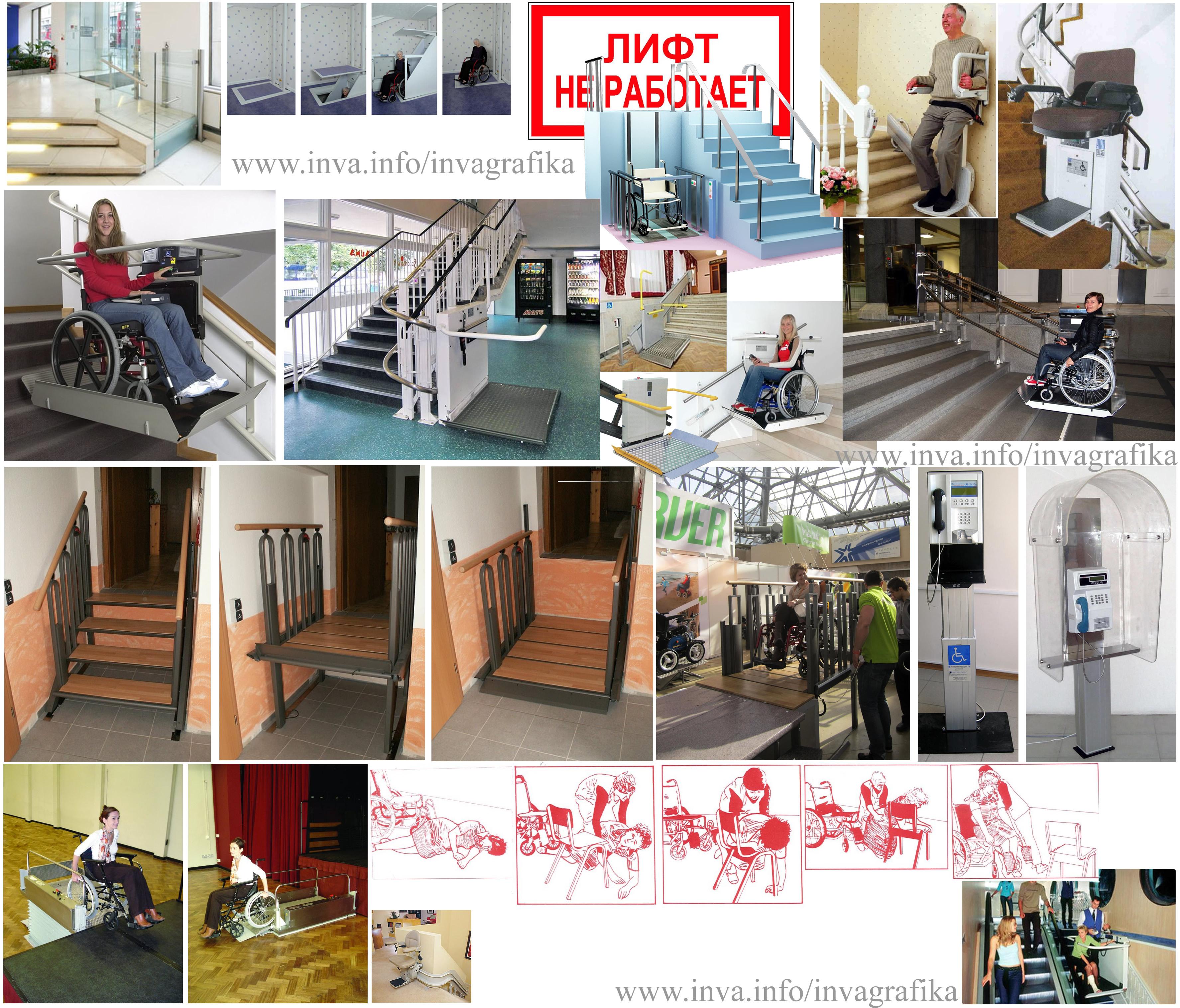 Подъёмники внутридомовые для инвалидной коляски, подъёмно-транспортное оборудование для маломобильных граждан. Подъемники для инвалидов наклонного перемещения