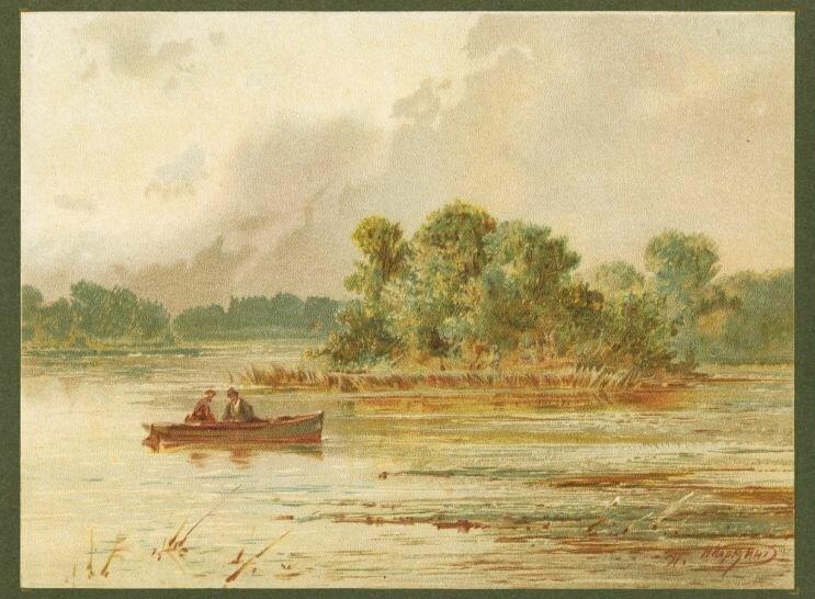 Н. Н. Каразин. На реке