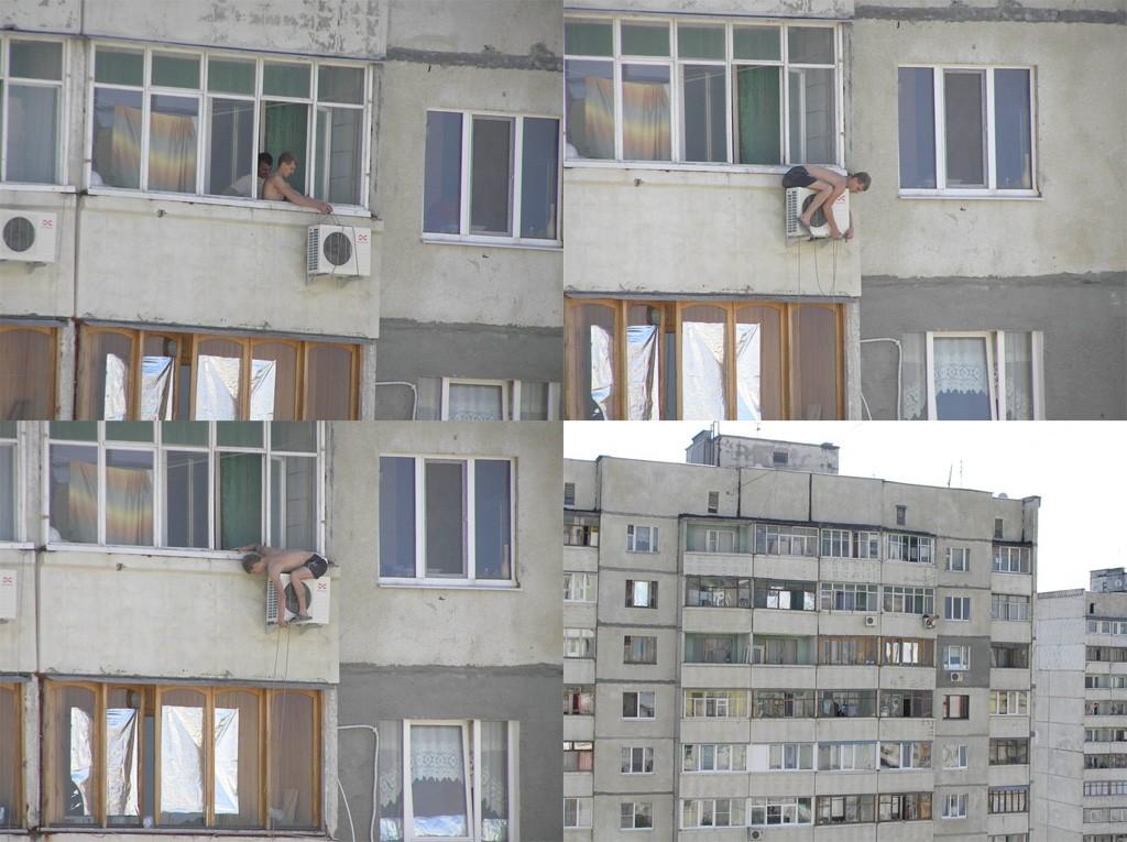 Как русский человек вешает кондиционер