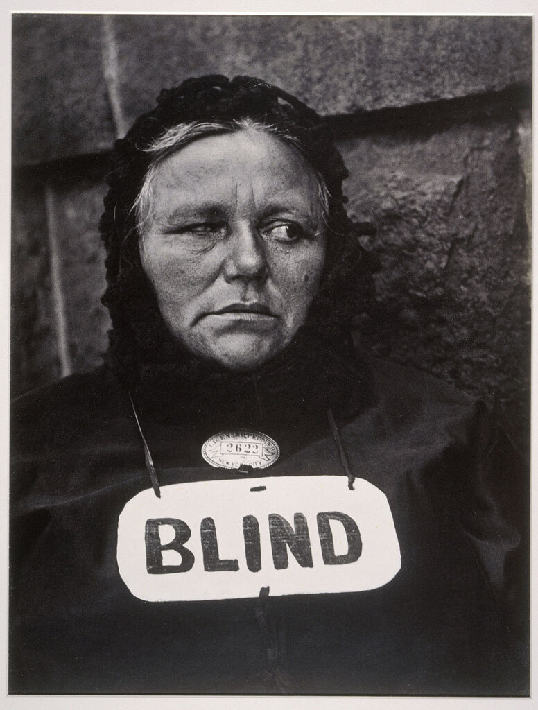 Blind Woman, New York, 1916, by Paul Strand
